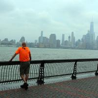 Saturday, July 30: John Mennell looks across the Hudson River