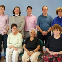 Members of Newark Shared Ministries. Front row, l-r: The Rev. Bowie Snodgrass, Charlotte Chappel, Rosalia Clegg, Rosemary Wright. Back row, l-r: The Rev. Canon Gregory A. Jacobs, Chris Whitaker, the Rev. Mary Davis, Christopher Jennings, Joe LaVela, the Rev. Joyce McGirr, the Rev. Dr. Timothy Mulder. Not pictured: Juli Towell, the Rev. Emily Wachner. NINA NICHOLSON PHOTO
