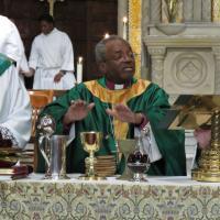 Presiding Bishop Michael Curry celebrates the Eucharist at St. Paul's, Paterson. SHARON SHERIDAN PHOTO