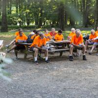 Wednesday, July 27: Morning Prayer at Cross Roads Camp.