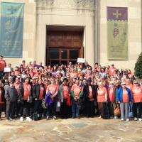 WASHINGTON: A group photo of the Episcopalians and Lutherans before boarding the buses back to New Jersey. PHOTO COURTESY LEAMNJ