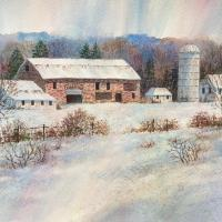 Long Valley Farm in Winter by Connie Halliwell