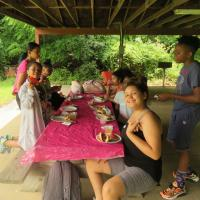 Lunchtime: The lunchtime menu includes hot dogs, hamburgers, corn-on-the-cob and watermelon. JULIE CRAWFORD PHOTO