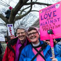 Rebecca Walker and Cynthia Black at the Women's March in Washington. COLLEEN HINTZ PHOTO