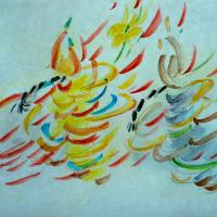 Nicodemus and Jesus by Lynne Bleich Weber