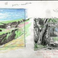 A sample page from Lynne Bleich Weber's sabbatical sketchbook