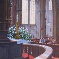 Solitude in St. Stephen's Cathedral, Vienna by Connie Halliwell
