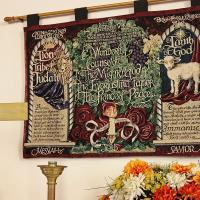 This banner is one of the items that will be taken to Grace, Ritherford, to serve as a reminder of St. Paul's ministry. NINA NICHOLSON PHOTO