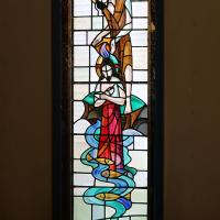 One of the stained glass windows in St. Paul's, North Arlington. NINA NICHOLSON PHOTO