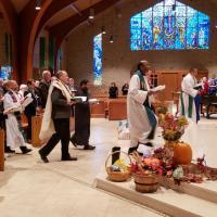Clergy procession. RANDY JOHNSON PHOTO