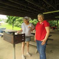 Volunteers: Volunteers from Messiah, Chester, help prepare lunch. SHARON SHERIDAN HAUSMAN PHOTO