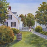 Williamsburg Backyard by Connie Halliwell