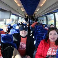 WASHINGTON: On the Newark bus. NINA NICHOLSON PHOTO