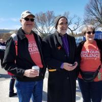 WASHINGTON: Bishop Mark Beckwith with diocesan members. NINA NICHOLSON PHOTO