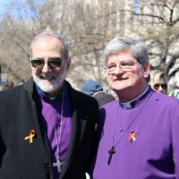 WASHINGTON: Bishop Mark Beckwith and Bishop Chip Stokes. NINA NICHOLSON PHOTO