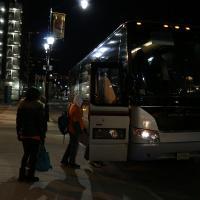 WASHINGTON: Marchers board the Newark bus before the 6 AM departure. NINA NICHOLSON PHOTO