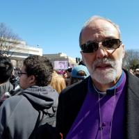 Bishop Mark Beckwith at the March for Our Lives in Washington, DC.