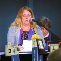 Deputy Laura Russell speaks in the House of Deputies. SHARON HAUSMAN PHOTO