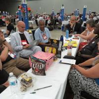 July 10: The Newark deputation in the TEConversation on Care of Creation. SHARON HAUSMAN PHOTO
