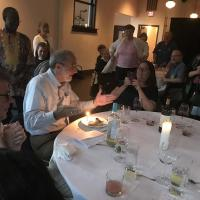 July 10: Celebrating Bishop Beckwith's birthday at the Newark dinner. DIANA WILCOX PHOTO