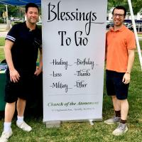 "Atonement, Tenafly's portable ""Blessings to Go"" booth. PHOTO COURTESY ATONEMENT, TENAFLY"
