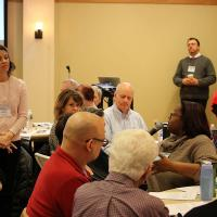 Angie Ratkowitz of St. Peter's, Livingston facilitates Dwelling in the Word. NINA NICHOLSON PHOTO