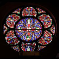 The rose window at Holy Communion, Paterson. NINA NICHOLSON PHOTO