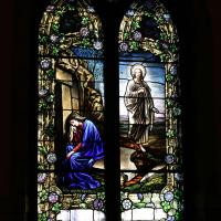 Just one of the beautiful stained glass windows at Holy Communion, Paterson. NINA NICHOLSON PHOTO