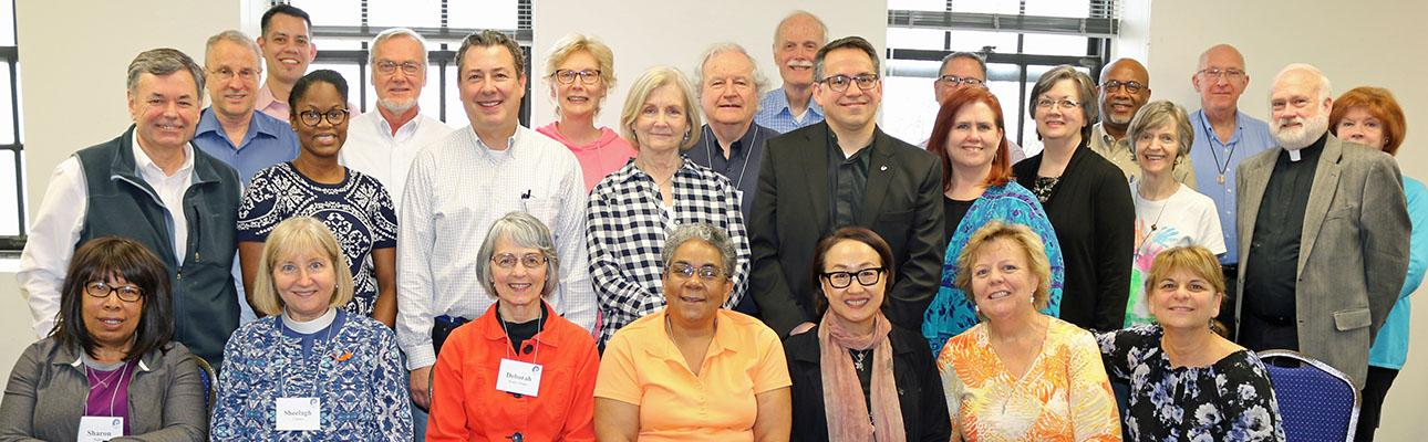 Episcopal clergy (and one UCC minister) attended Appreciative Interim Ministry Training with the Rev. Dr. Rob Voyle. NINA NICHOLSON PHOTO