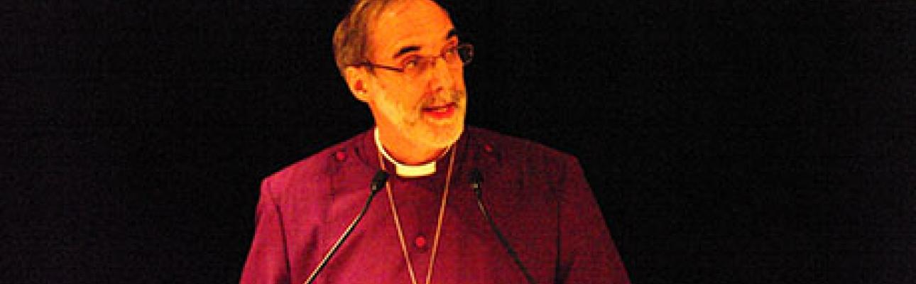 Bishop Beckwith speaking at Convention. NINA NICHOLSON PHOTO