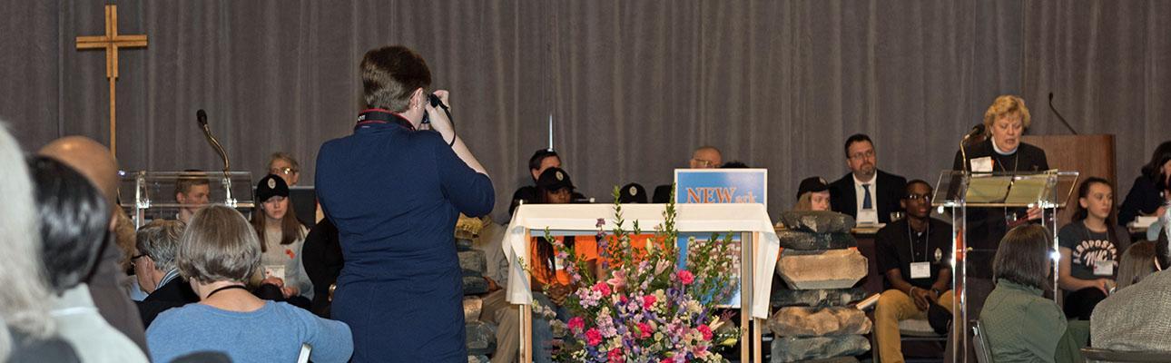 Nina Nicholson taking photos at Convention. STEVEN BOSTON PHOTO