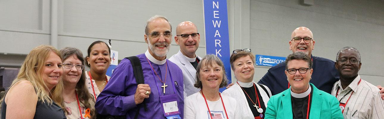 The Diocese of Newark Deputation poses for a group photo after the joint session on July 4. NINA NICHOLSON PHOTO