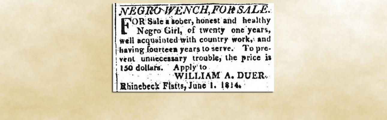 An 1814 advertisement placed in the Poughkeepsie Journal by one of Redeemer's two founding wardens.