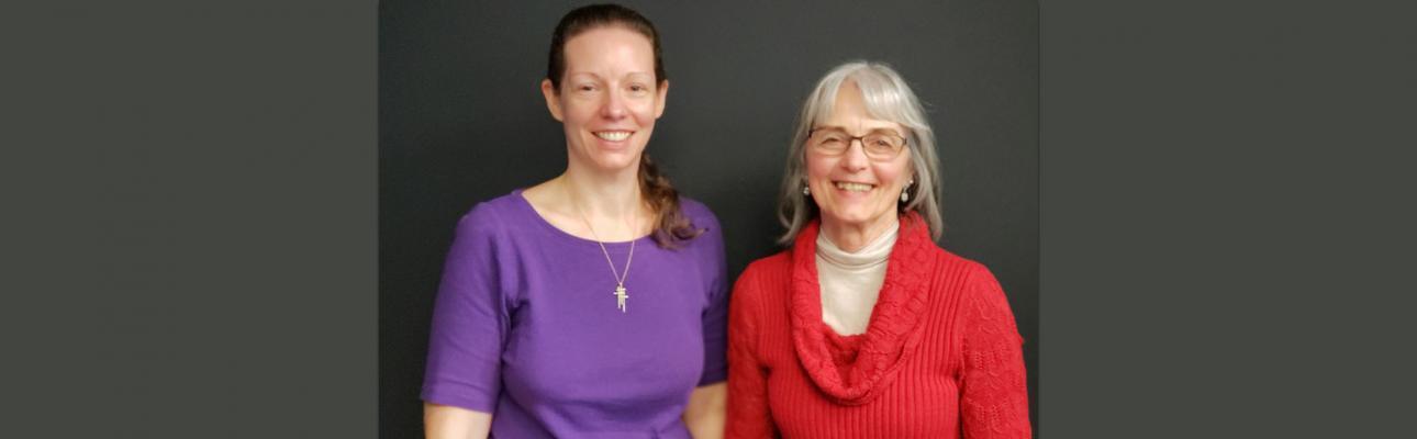 Merica Gellerman and the Rev. Deacon Deborah R. Drake.