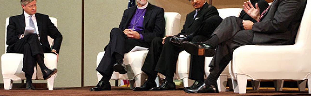 Jon Meacham, Bishop Beckwith, Imam Shareef, Father Edward Beck, Rabbi Gewirtz