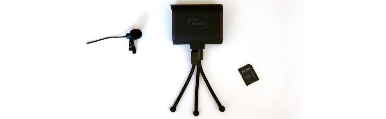 Camera, tripod, microphone, memory card