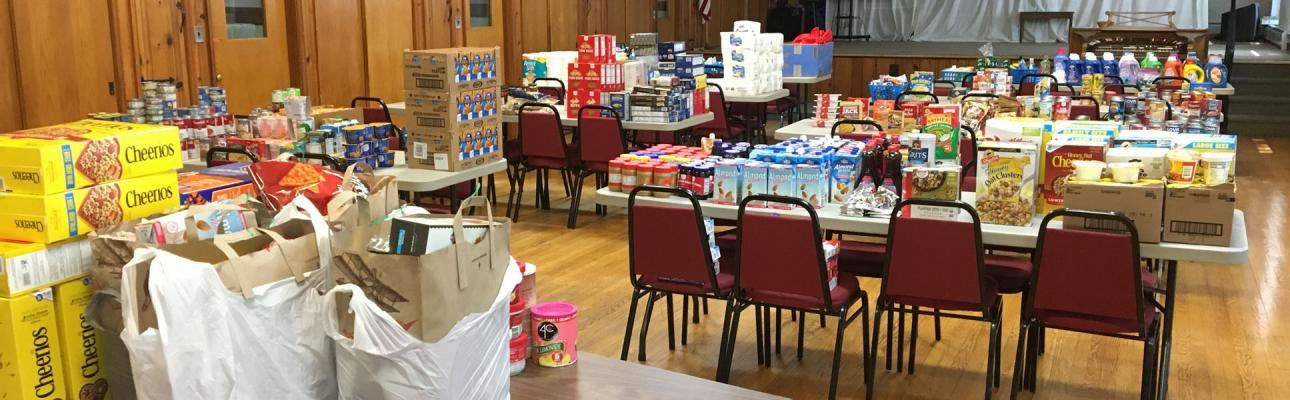 Martha's Pantry has taken over the parish hall at St. Clement's, Hawthorne. LINDA HEEREMA PHOTO