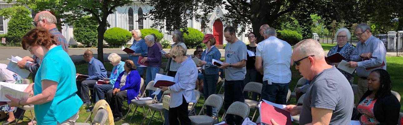 """St. Stephen's, Millburn takes church outside for """"Garden Party Sunday"""""""