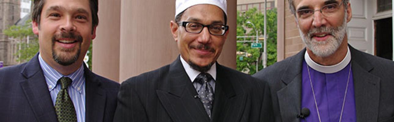 Rabbi Matthew Gewirtz, Imam W. Deen Shareef and Bishop Mark Beckwith