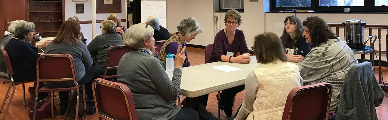 """The first """"Women's Commission"""" meeting on February 25. DIANA WILCOX PHOTO"""