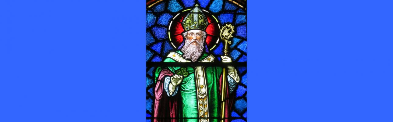 Image credit: Saint Patrick at St. Patrick's Catholic Church, Junction City, OH; by Nheyob - Own work, CC BY-SA 4.0, https://commons.wikimedia.org/w/index.php?curid=39732088