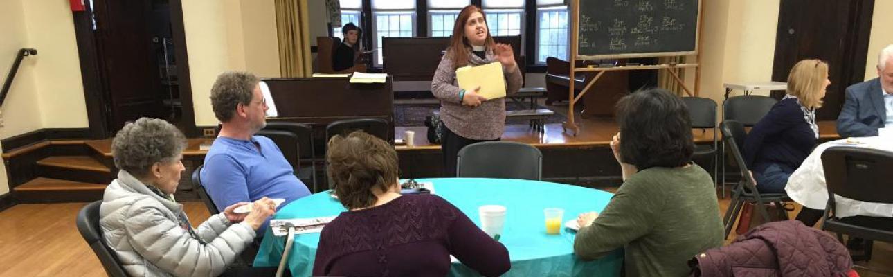 """The Rev Cathie Sklenar-Studwell leads the """"Gifted, Called, Sent"""" Lenten program at St. Bartholomew's, Ho-Ho-Kus."""
