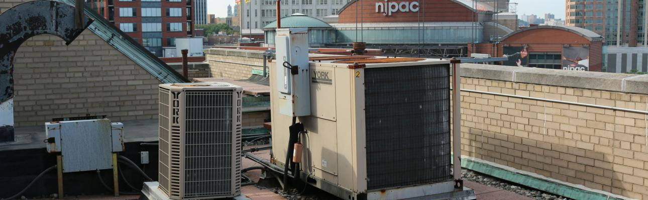 Episcopal House's A/C units, which date from the 20th century, will be replaced with energy-efficient 21st century models thanks to a state program that churches can also utilize. NINA NICHOLSON PHOTO