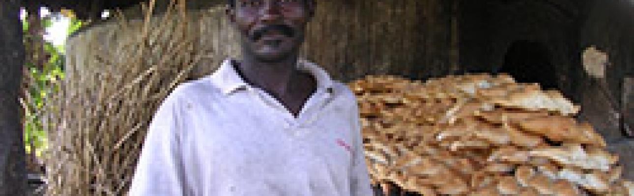 Haitian man baking bread. PHOTO COURTESY ERD