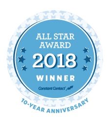 Constant Contact 2018 All Star Award Winner