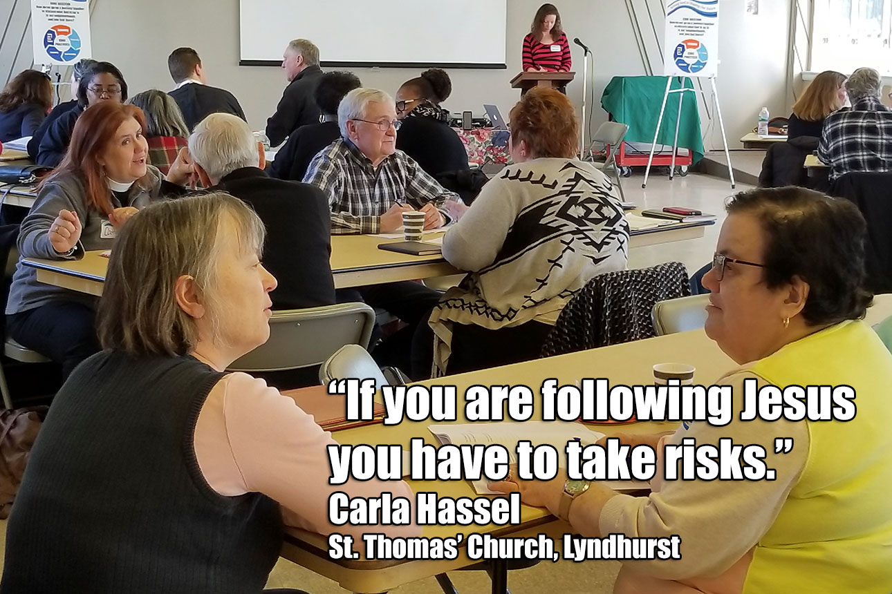 """If you are following Jesus you have to take risks."" Carla Hassel, St. Thomas' Church, Lyndhurst"